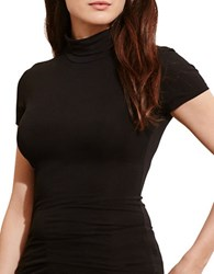 Lauren Ralph Lauren Plus Jersey Short Sleeve Turtleneck Black