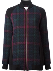 Thakoon Addition Oversized Checked Bomber Jacket Multicolour