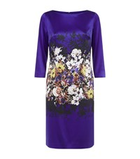 St. John Wildflower Silk Dress Female Blue