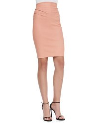 Robert Rodriguez Warrior Stretch Leather Skirt Ginger