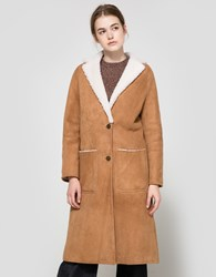 Apiece Apart Las Nubes Shearling Coat Cream