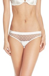 Women's Huit 'Visite Privee' Embroidered Thong