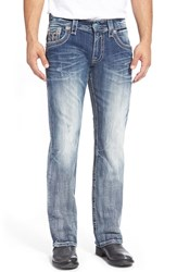Men's Rock Revival 'Jayson' Straight Leg Jeans Medium Blue