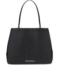 Roland Mouret Odeon Leather And Suede Tote Black