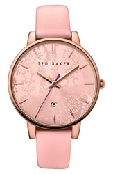 Ted Baker Women's London Leather Strap Watch 40Mm Pink Pink