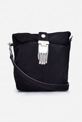 Opening Ceremony Athena Suede Lunch Bag Black