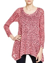 Nally And Millie Leopard Print Sweater Pink