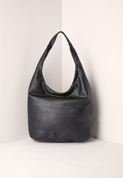 Missguided Faux Leather Slouch Tote Bag Black