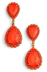 Loren Hope Women's Crystal Drop Earrings Paradise Red