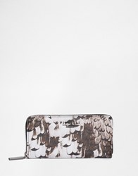 Fiorelli Printed Zip Around Purse Autumn Feather Multi