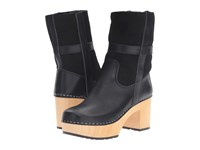 Swedish Hasbeens Hippie Low Black Women's Pull On Boots