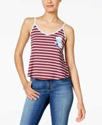 Hybrid Juniors' Peanuts Snoopy Graphic Tank Top Red White Blue