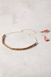 Anthropologie Tassel Wrap Belt Rose