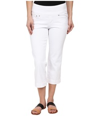 Jag Jeans Petite Caley Crop In White White Women's Jeans