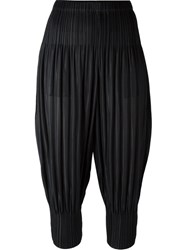 Issey Miyake Pleats Please By Cropped Pleated Trousers Black