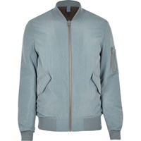 River Island Mens Light Blue Ma1 Bomber Jacket