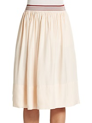 Stella Mccartney Full Silk Blend Midi Skirt