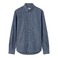 Jigsaw Bound Edge Slim Fit Chambray Shirt Blue