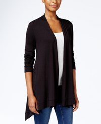 Jm Collection Petite Button Back Open Front Cardigan Only At Macy's Deep Black