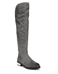 Fergie Navaro Knee High Suede Boots Grey