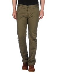 Boss Black Casual Pants Military Green