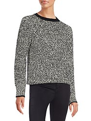Rag And Bone Karen Chunky Crewneck Sweater White Black