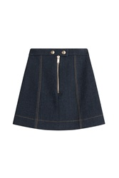 Sonia Rykiel A Line Denim Mini Skirt Blue