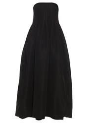 Adam By Adam Lippes Strapless Silk Faille Gown Black