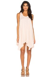 Wilt Slub Hanky Hem Slit Tank Dress Pink
