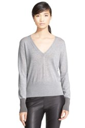 Rag And Bone 'Jessica' Merino Wool V Neck Sweater Gray