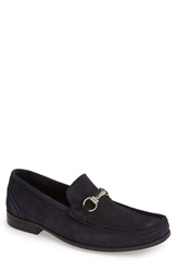 Sandro Moscoloni 'Malibu' Suede Bit Loafer Men Navy
