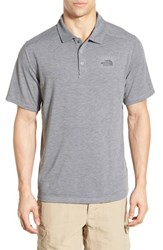 The North Face Men's 'Crag' Flashdry Tm Polo Tnf Medium Grey Heather