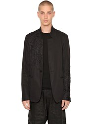 Isabel Benenato Deconstructed Embroidered Twill Jacket