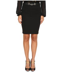 Versace Pencil Skirt With Chain Nero