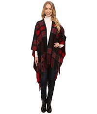 Pendleton Plaid Blanket Shawl Red Women's Sweater