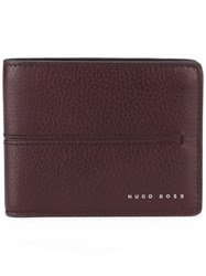 Hugo Boss Billfold Wallet Pink Purple