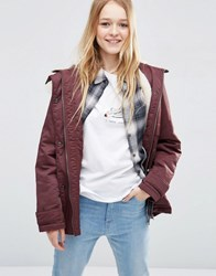 Asos Ultimate Parka Berry Red