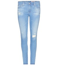 Ag Jeans Cropped Skinny Jeans Blue