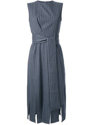 Le Ciel Bleu 'Pin Stripe Swing' Dress Grey