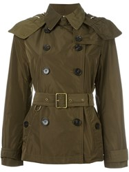 Burberry Brit Double Breasted Jacket Green
