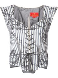 Vivienne Westwood Red Label Bodice Top White