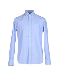 Salvatore Piccolo Shirts Shirts Men Sky Blue