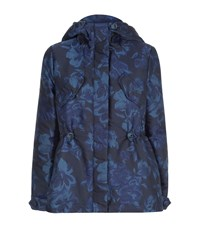 Max Mara Maxmara Weekend Floral Jacquard Puffer Jacket Female Blue