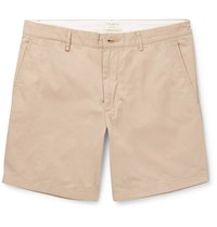 Club Monaco Baxter Cotton Twill Shorts Neutrals