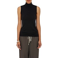 Rick Owens Women's Mock Turtleneck Tank Black Blue Black Blue