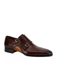 Magnanni Reinosa Leather Double Monk Shoe Male
