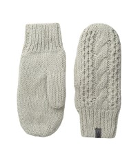 The North Face Cable Knit Mitt Lunar Ice Grey Extreme Cold Weather Gloves Bone