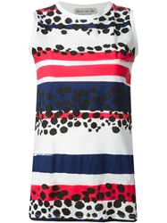 Etre Cecile 'Cheetah' Sleeveless T Shirt White