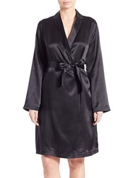 La Perla Silk Wrap Robe Black