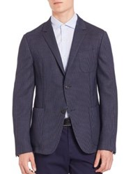Z Zegna Dot Wool Jacket Blue